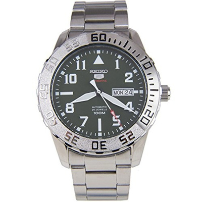 Seiko Watches Seiko Automatic Srp751 5 Sports Green Dial Stainless Steel Band Mens Watch