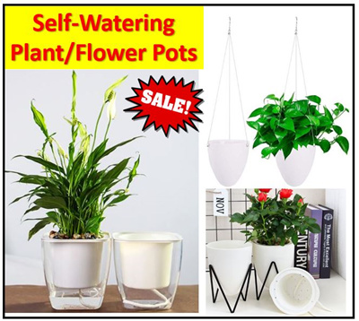 212 & Self Watering Lazy Flower Plant Pot Travel Indoor Outdoor Easy Home Office Gardening Garden Table