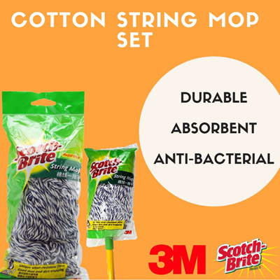 【3M】Scotch Brite String Mop Set (Cotton)