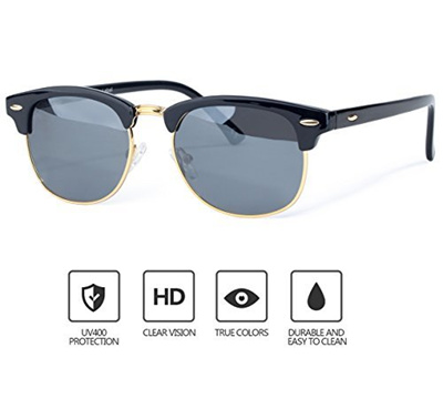 6de9df03c7 Qoo10 - Semi-Rimless Sunglasses Women Men Classic Glasses Shades Polarized  UV ...   Men s Bags   Sho.