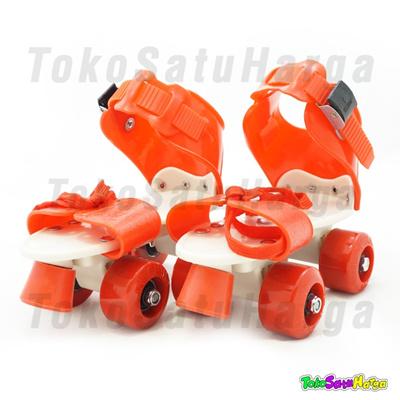 Qoo10 - Sepatu Roda 4 Anak   Dry Skate + Tas - Merah   Mainan Anak 10721f74f7