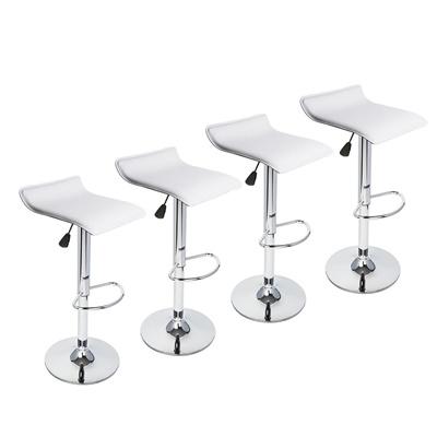 Astounding Set Of 4 Modern Swivel Seat Chrome Base Pub Bar Stool Dinning Kitchen Chair Home Pdpeps Interior Chair Design Pdpepsorg