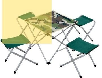 Set Portable Outdoor Folding Tables And Chairs Folding Tables And Chairs  Barbecue Beach Chairs Combination Five