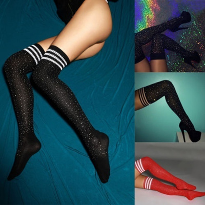 25d46c85673 Qoo10 - Sexy Bling Glitter Over Knee Long Boot Rhinestone Socks Thigh High  Kne...   Household   Bedd.