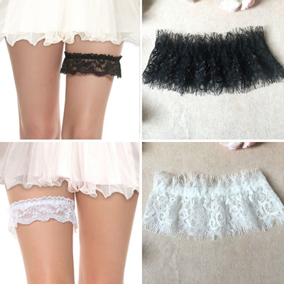 Y New Lady Elastic Lace Fl Wedding Bridal Thigh Bow Garter Belts Leg Ring
