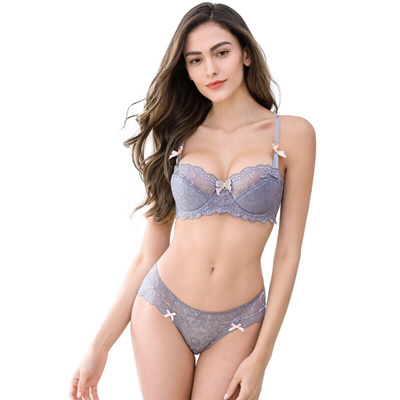 203d0606756 Qoo10 - Sexy Transparent Bra Set Women Underwear Plus Size Bra ...