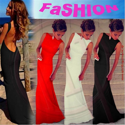 11511b8b40 Qoo10 - ☆Sexy Women Dress Prom Ball Cocktail Party Dress Formal Evening Gown  L...   Women s Clothing