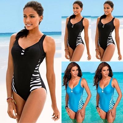 8f23f4f2356 Sexy Women Plus Size One Piece Monokini Swimwear Push Up Padded Bikini  Swimsuit
