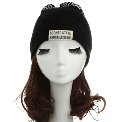 Qoo10 - SG New Women Men Knitted Beanie Hat Letter Wave Stripe Round Top  Turn-...   Fashion Accessor. 67927b93afff