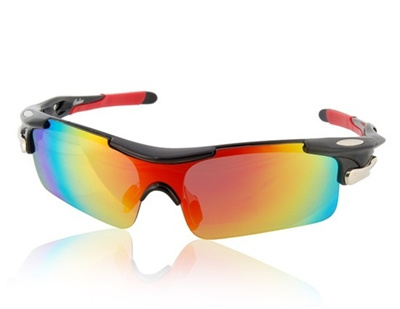SG OREKA WG005 Black TR90 Frame   REVO Coating Red PC Lenses Sports Riding  Glasses ( a0a1a326f5a7