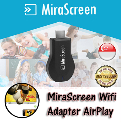 ★SG Seller★ MiraScreen TV Stick EZcast EasyCast DLNA EZMirror Airmirror  WIFI Match Local Language Automatically TV Stick Receiver Airplay Display