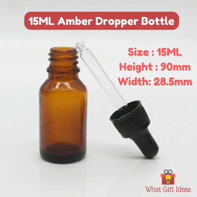 79aca348169a SG SELLER READY STKS15ml Amber Dropper Bottles |Refillable Amber Glass  Bottle | 15ml Essential Oil Bottle