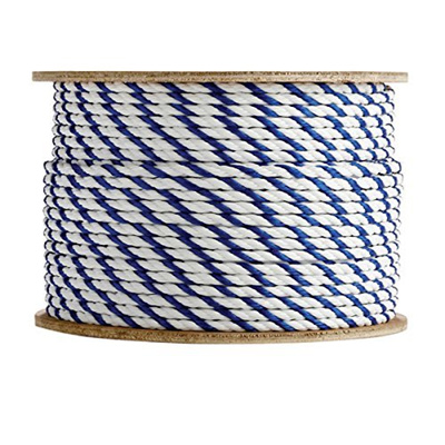 SGT KNOTS Twisted Polypropylene Pool Rope (1/4 inch - 3/4 inch) 3-Strand  Polypro Cord - Lightweight