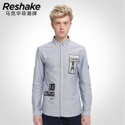 acc398e342 Qoo10 - SHAKE China stylish long sleeve shirt spring 2016 new Philip  embroider...   Men s Clothing