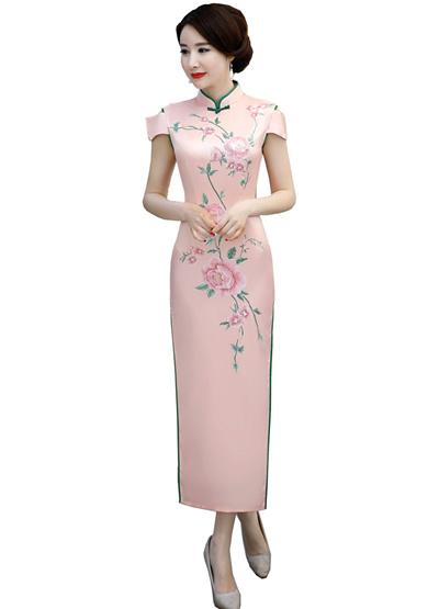 b0b400f0520b Qoo10 - Shanghai Story 2018 Floral Qipao Long Chinese Dress chinese style  dres...   Women s Clothing