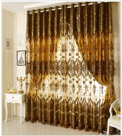Sheer Chiffon Curtains Stylish Bedroom Curtains Finished High Quality  Living Room Size 1m X 2.7