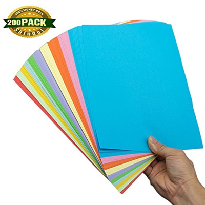 (Shindel) Shindel Handmade Folding Paper Color Copy Paper Card Stock Craft  Origami for Arts and C
