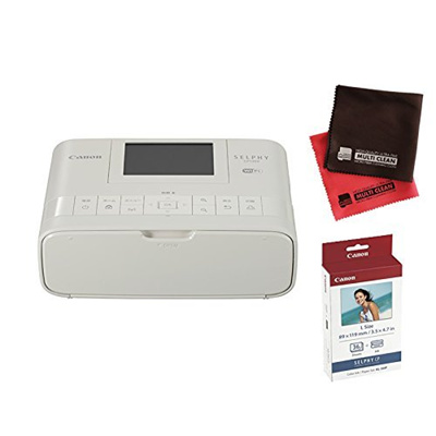 [Shipping from japan][Photo paper Cross] Canon SELPHY CP1300 (WH) White  Compact Photo Printer [Self