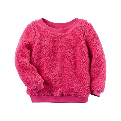 Qoo10 - [Shipping from USA]Carters Girls Pink Sherpa Crew Neck ...