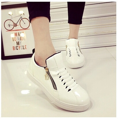00322f7e086 Qoo10 - shoe Autumn new Korean version of the golden lace thick crust wedge  he...   Shoes