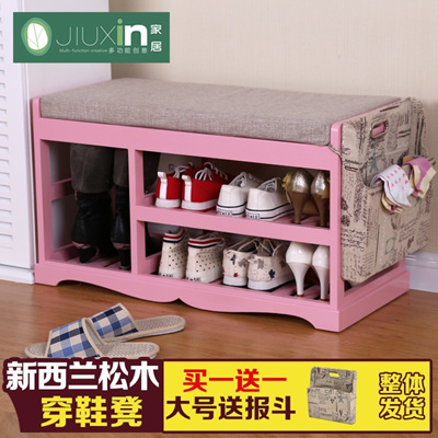 Qoo10 - Shoe bench storage stool wood modern minimalist shoe storage ...