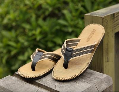 395e930bfc5d shoe flip flop sandals Beach shoes men and women pants slippers summer  Korean trend men beac