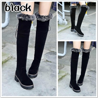85eb34799ed Qoo10 - Shoes Women New Over The Knee Thigh High Boots Women Motorcycle  Flats ...   Smart Tech