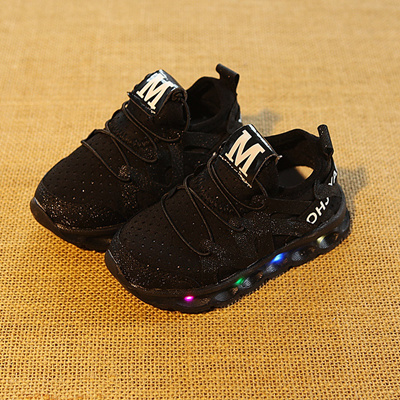 shop 2018 LED lighted slip on cool children casual shoes unisex girls boys  glitter sneakers glowing a1e692460cd1