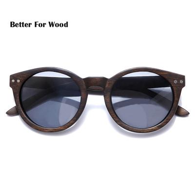 43676eac94 shop 2018 Women Men Cateye Wood Sunglasses Vintage Round Sunglasses  Polarized Lens Free Shipping