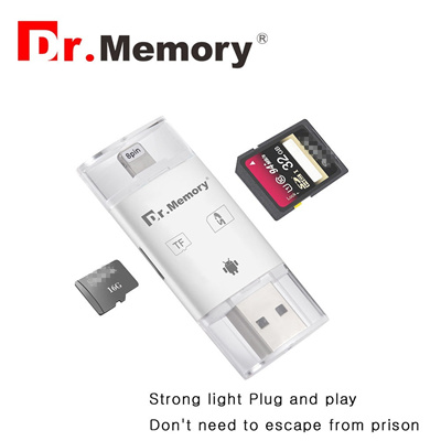 sale retailer f2c5c 30a88 shop micro Sd card reader for Apple iphone 6s 7 plus Pendrive metal  Expansion Android phone OTG memo