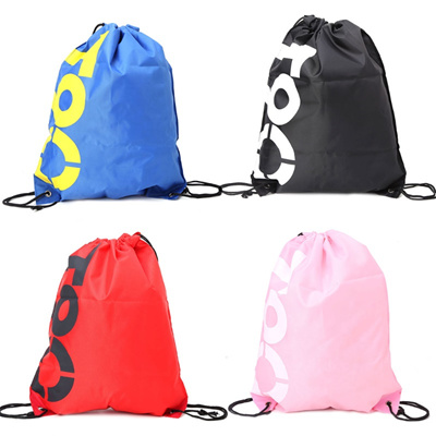 ac2252c44403 shop THINKTHENDO Backpack Shopping Drawstring Bags Waterproof Travel Beach  Shoes Pack