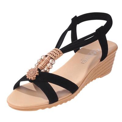 5b1d5f2666de1 shop Women Sandals Summer Shoes Fashion Wedge Sandals Women Shoes String  Bead Summer Beach Sandals