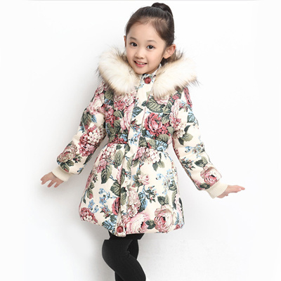 New Winter Girl Fashion Jackets Warm Cotton Coats Girls Thicken Hooded Outerwear