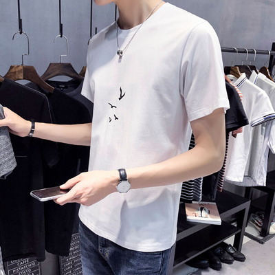 79c8c74e8a Qoo10 - Short-Sleeved T-Shirt Male Student Korean Version Of The Half-Sleeved  ...   Men s Apparel