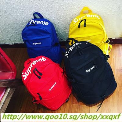 Qoo10 - Shoulder Bag Supreme Backpack Fashion School Student