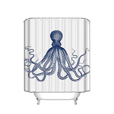 Qoo10 Shower Curtain Octopus Decor