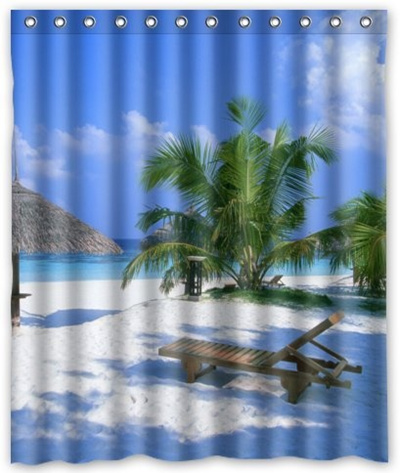 Shower Curtain Standard Store Custom Special Design Beach Chairs 60 X