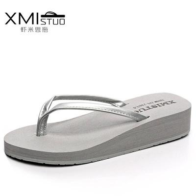 982522958ce449 Qoo10 - Shrimp think drag summer pu fine belt Wedge Flip Flops shoe Women  Kore...   Men s Bags   Sho.