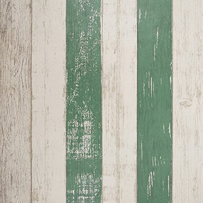 Sicohome Peel And Stick Wallpaper 11 Yards Green Stripe Wallpaper Adhesive For Wall Decoration