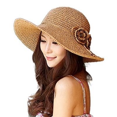 Qoo10 - SIGGI Womens Floppy Straw Sun Hats Summer Beach accessories Wide  Brim ...   Fashion Accessor. b02c3ee9d94e