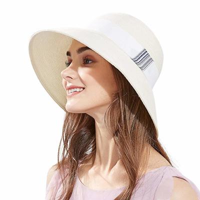 a0bb04f7040 Qoo10 - SiggiHat Packable UPF Straw Sunhat Women Summer Beach Wide Brim  Fedora...   Fashion Accessor.
