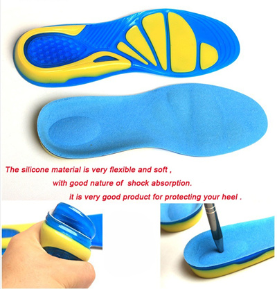 dd9da8033a Qoo10 - Silicon Gel Insoles Foot Care for Plantar Fasciitis Heel Spur  Running ... : Shoes