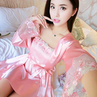 Qoo10 - Silk Pajamas Women s-summer sexy nightdress two-piece ice silk  suspend...   Underwear   Sock. 664b3573e