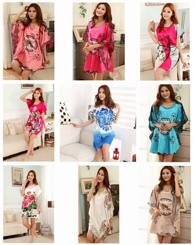 Silky Pajamas 💖 Woman Sleep Wear 💖 Nursing Dress 💖 910215db1