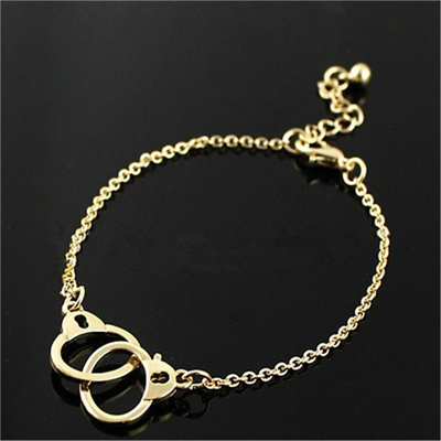 Silver Handcuff Bracelet Gold Partner In Crime