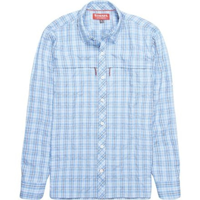 Closeout Size Medium Simms Stone Cold Long Sleeve Shirt-Celadon Plaid