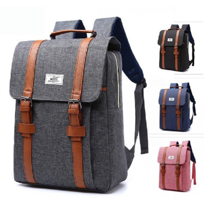 Qoo10 - Simple Canvas Laptop Backpack   Bag   Wallet 23db54f960cfe