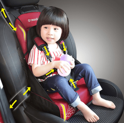 Simple car with baby portable child safety