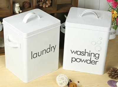 Simple Laundry Detergent Washing Powder Box Tin Storage Bo Of Barrel M Barrels