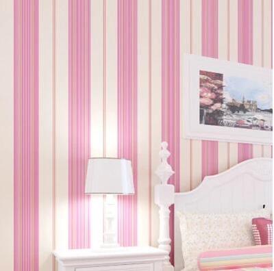 Qoo10 - Simple striped wallpaper bedroom living room study ...